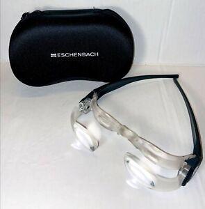 ESCHENBACH Germany Max TV Magnification Glasses 2x Magnifier Loupe & Case BOX A2