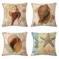 Sea snail Cotton Linen Fashion Throw Pillow Case Cushion Cover Home Sofa Decor