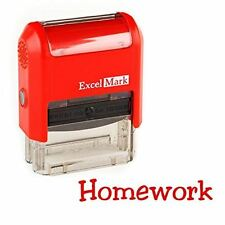 NEW ExcelMark HOMEWORK Self Inking Teacher Rubber Stamp | Red and Blue Ink