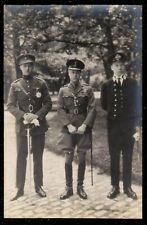 1930 PRINCE OF WALES LATER KING EDWARD VIII MILITARY ROYAL GROUP PHOTO POSTCARD