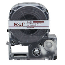 "K-Sun 218MTBW Black on White ""Magnet"" Tape 3/4"" K-Sun Dealer 218MTBWPX"