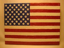 USA American Flag Acrylic Hand Painted on Stretched Canvas Panel Made in USA