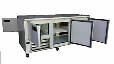 "Cooltech Two Side Doors Low Boy Worktop Refrigerator 72"" Cwk-72Lb6D"