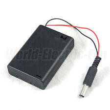 Battery Pack Holder Box 3 AA LR6 Case 4.5V ON/OFF Switch DC 2.1 5.5mm Power Plug