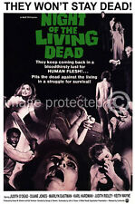Vintage Horror Movie Poster Night Of The Living Dead 18x24