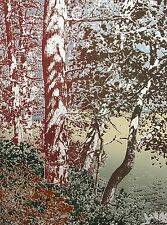 """Paula Crane """"Marriage"""" Signed & Numbered Art Etching of trees MAKE AN OFFER!"""