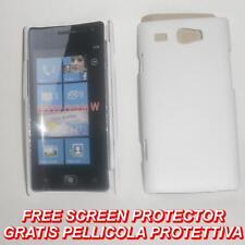 Pellicola+custodia BACK COVER BIANCA rigida per Samsung Omnia W I8350