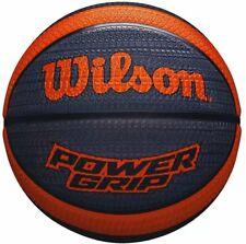 "Wilson Power Grip Basketball Size 7/29.5"" Official Size - Orange/Grey"
