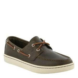 Sperry Top-Sider Men Boat Shoes Sperry Cup 2-Eye Size US 8.5M Olive Leather