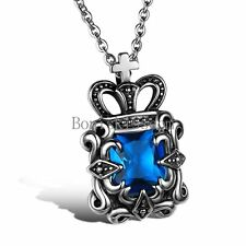 Stainless Steel Vintage Crown Pendant Necklace for Men Women Christmas Gifts