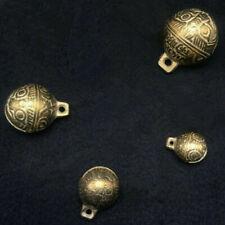 4 PCS Tibetan Brass Bells Beads Craft Tiger's head Small Metal Ethnic