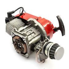 Mini Moto Motard Bike 49cc 2 Stroke Engine Red Pullstart Minimoto No Clutchbell