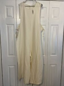 NEW Madewell Texture & Thread Side Tie Ribbed Sleeveless Jumpsuit Size 2XL