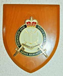 Australian Command and Staff College Army Reserve wall plaque crest shield