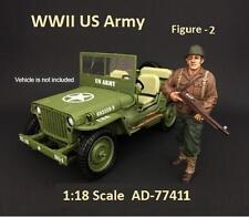American Diorama WWII US Army - Figure II  - 1:18  scale   AD 77411