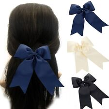 Large Long Tail French Barrette Bow Hair Clip Pins Clips Girls Ladies Ribbon xx