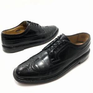 ✅💟✅$ Men's Florsheim Imperial Black Longwing Shoes 11.5 DExcellent India Dress