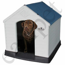 Plastic Dog Kennel Pet House XL Weatherproof Outdoor Durable Animal Shelter New