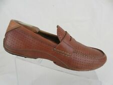 FOSSIL Brown Sz 11 M Men Venetian Penny Driving Moccasin Loafers