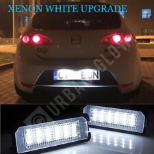 SEAT LEON XENON BRIGHT WHITE LED NUMBER PLATE LIGHT UNITS UPGRADE NO ERRORS