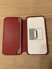 New Phone X XS Leather Folio Case Product Red OEM original Authentic