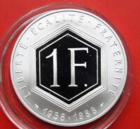 Frankreich 1 Franc 1988 Proof Silber KM# 978 #F 0481 only 60 k Mintage