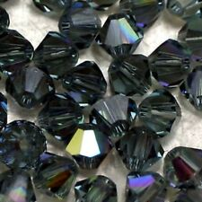 25 Perles Cristal-TOUPIES SWAROVSKI  - INDIAN SAPPHIR AB      4 mm
