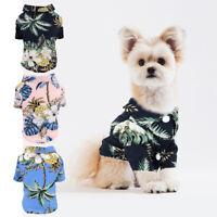 Hundehemd Sommercamp Shirt Kleidung Kokosnussbaum Drucken Hund Strandkleidung