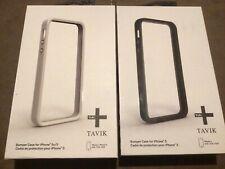 SET OF 2 x TAVIK HIGH QUALITY IMPACT RESISTANT BUMPER CASES APPLE iPHONE 5 5S SE