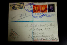 Great Britain Stamps Fdc Registered to Portuguese East Africa Rare