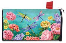 Dragonfly Garden Spring Magnetic Mailbox Cover Floral Standard Briarwood Lane
