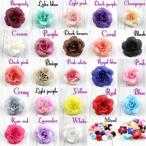 10/100Pcs Small Silk Rose Heads Artificial Fake Flower Buds Wedding Party Decor
