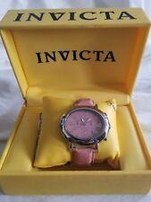 NEW INVICTA Model #2660 Womens Watch PINK Genuine Ostrich Strap pink