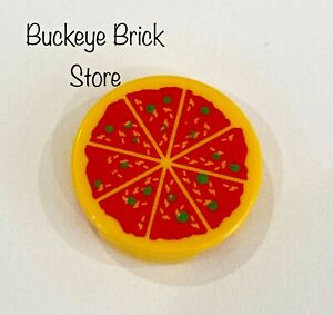 NEW Lego Minifig Food - PIZZA Classic Cheese 2x2 Round Tile
