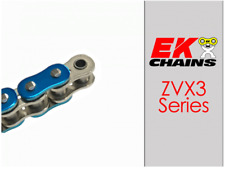 EK ZVX3-520 MOTORCYCLE CHAIN 150 LINKS TENSILE STRENGTH 9400 lbs METALLIC BLUE
