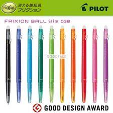 Pilot Frixion Ball Slim 0.38mm Erasable Roller Ballpoint Pen (Choose 3 colors)
