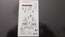 DECAL FERRARI F430 GT2 24H LE MANS 2008 #82 RISI COMPETIZIONE BBR 1/43 COD.BG348
