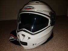 Caberg Duke Motorcycle Motorbike Flip Up Touring Helmet White Large