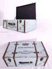 VINTAGE! Wunderschöner Oldtimer Koffer Reisekoffer Antik Style Wooden Suitcase