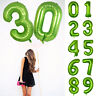 Foil Balloons Green Number Supplies Anniversary Birthday Party Wedding 40 inch