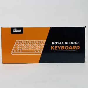 Royal Kludge RK61 Dual Mode Brown Switch Black Keyboard Red Back * NEW Open Box