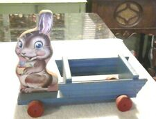 Rare Old Vintage Original Fisher Price Bunny Cart # 406 1950