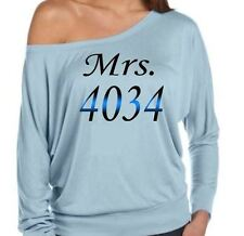 POLICE WIVES SLOUCH SHIRT ~ MRS. 1234
