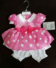 DISNEY STORE Pink MINNIE MOUSE Dress costume Infant Baby Girl 3-6 Months NWT