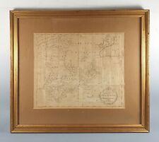 1781 Antique Map of Nova Scotia, Canada, North America - John Hinton