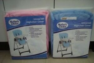 NEW UNIVERSAL FIT HIGH CHAIR HIGHCHAIR COVER MOTHERS CHOICE BRAND BLUE OR PINK