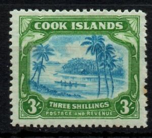 Cook Is 1944 3s Greenish Blue & Green SG 145 MM