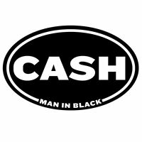 Johnny Cash Rock Roll Oval Decal Vinyl Sticker 4 Stickers