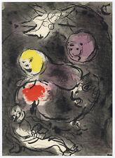 "Marc Chagall ""Daniel in the Lion's Den"" original Bible lithograph"