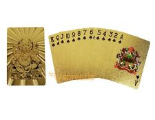Ganesha Gold Playing Cards 24k Foil Plated Plastic Full Deck Poker Gamble Luxury